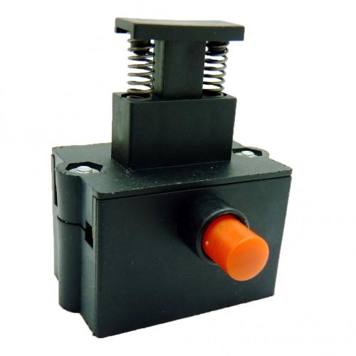Кнопка для цепной пилы, двойное нажатие, тонкий фиксатор.